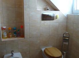 Koupelna s WC, bidetem a masážním sprchovým koutem