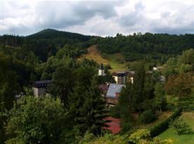 Výhled na Desnou z balkonu