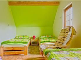Zelený pokoj až pro 4 osoby