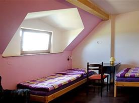 Růžový pokoj až pro 6 osob