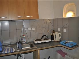 kuchyňka - apartmán v přízemí