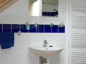 Koupelna se sprchovým koutem apartmán D