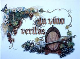 Vinařská malba na fasádě chalupy