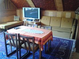 Apartmán B - ložnice s TV