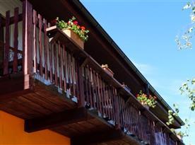 Součástí apartmánu je balkon