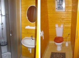 Šestilůžková chata - koupelna se sprchou a samostatné WC