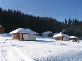 Zimní pohled na rekreační středisko
