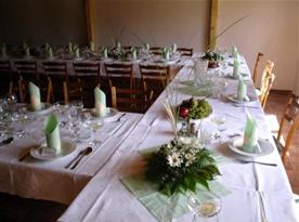 Restaurace - slavnostní tabule