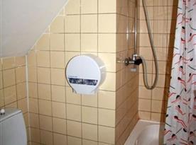 Pokoj TURISTIK* - koupelna se sprchovým koutem