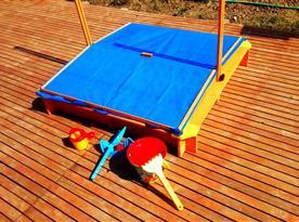 Pískoviště pro děti - stáhnutelná stříška