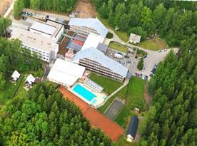 Letecký pohled na hotel