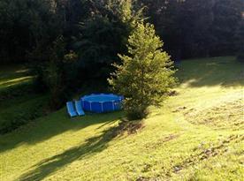 Pohled na venkovní bazén