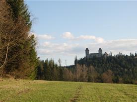100m od penzionu - hrad Kašperk