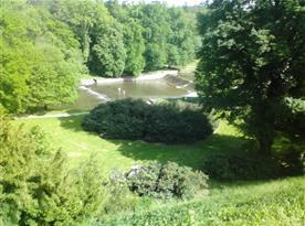 vodopád zámek Žleby