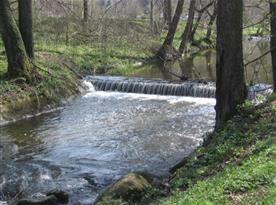 Řeka v okolí chalupy
