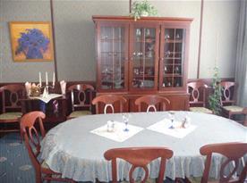 Luxusně zařízená salonek penzionu