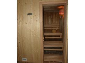Sauna v rámci chalupy s posezením