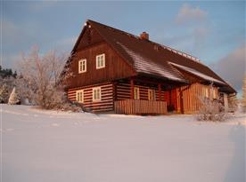 Zima při západu slunce