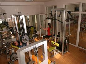 Vybavené fitness centrum