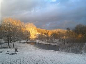 Zimní pohled z terasy