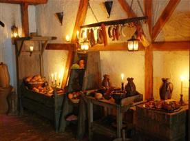 Bohatá středověká snídaně