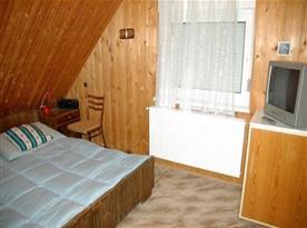 Ložnice v podkroví s televizí