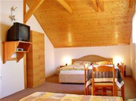 Ložnice pro 5 osob v apartmánu v podkroví