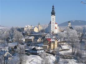 Okolní krajina v zimě