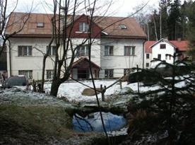 Rekreační chata v zimě