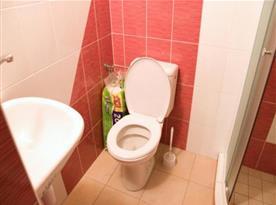 Společenská místnost s toaletou a sprchovým koutem