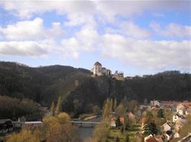Pohled na zámek ve Vranově nad Dyjí