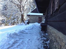 veranda v zimě
