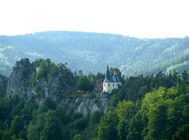 Pohled na hrad Vranov