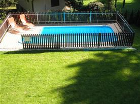 Bazén, pohled z chaty