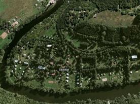 Letecký pohled na osadu