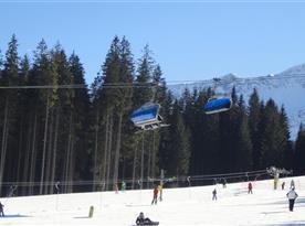 lyžovanie 2km - 6 km od objektu