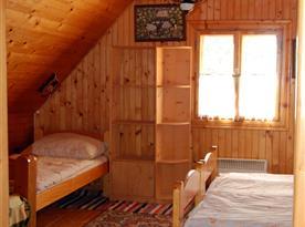 Pokoj ve druhém patře - 4 ložnice