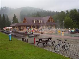 Termálne kúpalisko Oravice (790 m n.m.) teplota vody 32-38°C (20km)