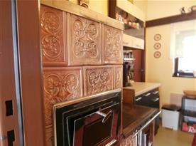 Kuchyň kachlová kamna