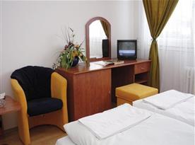 Dvoulůžkový pokoj s posezením a televizí