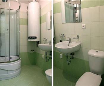Apartmán č. 2 - koupelna se sprchou