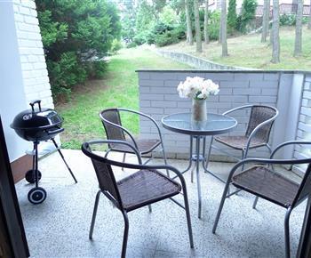 Posezení na terase s možností grilování
