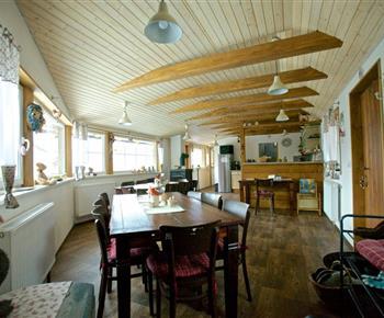 Společenská místnost a jídelna