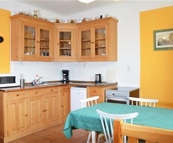 Apartmán B kuchyně
