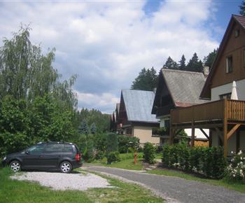 Parkoviště před chatou