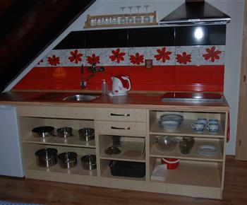 Apartmán - kuchyňka