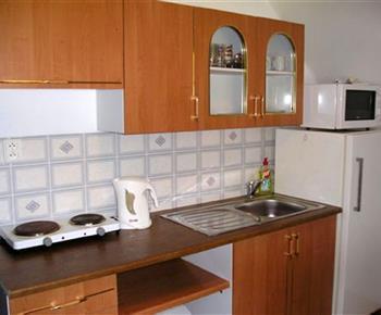 Kuchyňský kout je součástí každého apartmánu