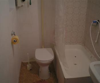 Sociální zařízení se sprchovým koutem a toaletou