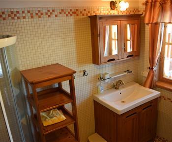 Koupelna se sprchou a WC v přízemí