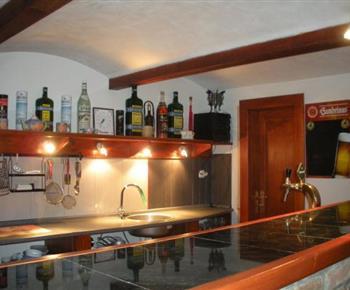 Bar s chladícím pultem a výčepem